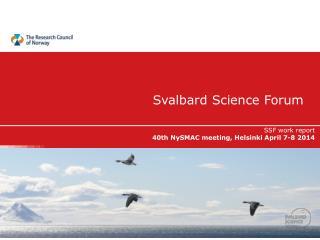 Svalbard  S cience  Forum