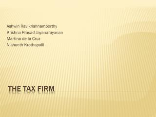 The tax firm