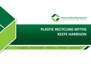 Plastic recycling Myths Keefe Harrison