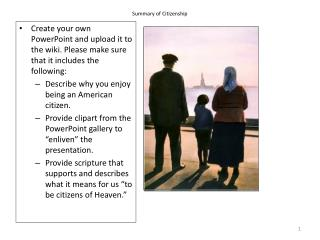 Summary of Citizenship