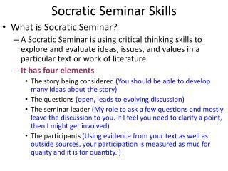 Socratic Seminar Skills