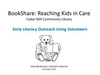 BookShare : Reaching Kids in Care Cedar Mill Community Library