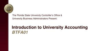 Introduction to University  Accounting BTFA01