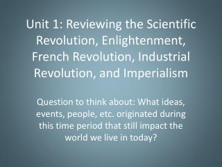 Background: Europe Before the Scientific Revolution