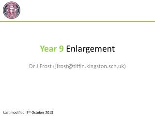 Year 9  Enlargement