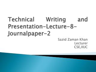 Technical Writing and Presentation-Lecture-8-Journalpaper-2