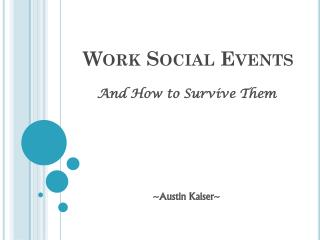 Work Social Events