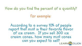 How do you find the percent of a quantity?