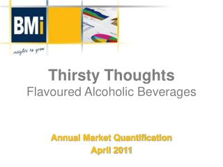 Thirsty Thoughts Flavoured  Alcoholic Beverages