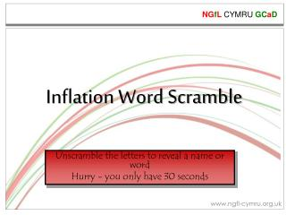 Inflation Word  Scramble