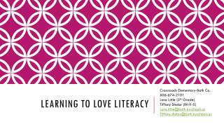Learning to Love Literacy