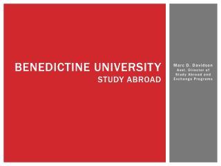 Benedictine University Study Abroad