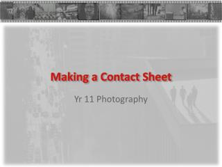 Making a Contact Sheet