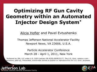 Optimizing RF Gun Cavity Geometry within an Automated Injector Design System *