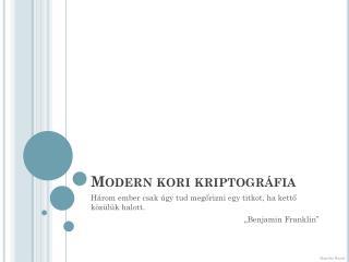 Modern kori kriptográfia