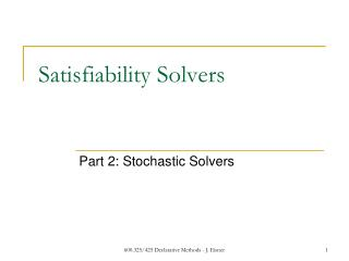 Satisfiability Solvers