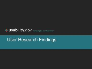 User Research Findings