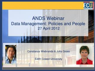 ANDS Webinar  Data Management: Policies and People  27 April 2012