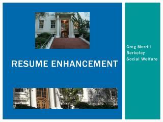 Resume Enhancement