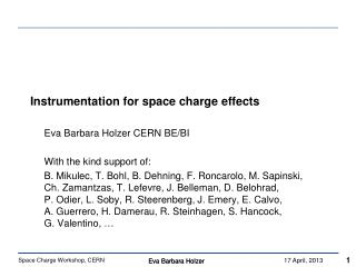 Instrumentation for space charge  effects