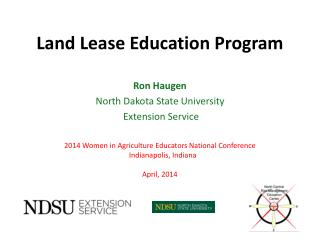 Land Lease Education Program