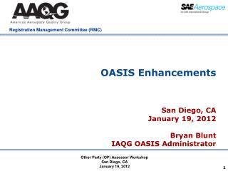 OASIS Enhancements
