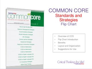 COMMON CORE Standards and Strategies Flip Chart