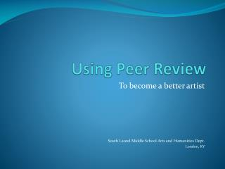 Using Peer Review