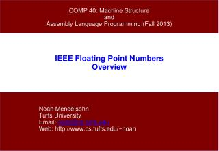 IEEE Floating Point Numbers Overview
