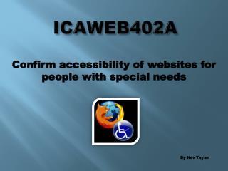 ICAWEB402A