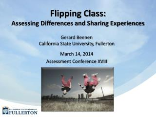 Flipping Class: Assessing Differences and Sharing Experiences