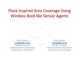 Flock Inspired Area Coverage Using Wireless Boid-like Sensor Agents