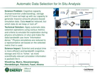 Automatic Data Selection for In Situ Analysis