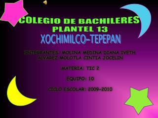 COLEGIO DE BACHILERES  PLANTEL 13