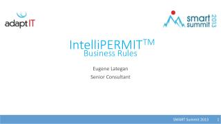 IntelliPERMIT TM Business Rules