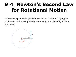 9.4. Newton s Second Law for Rotational Motion
