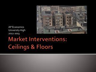 Market Interventions:  Ceilings & Floors