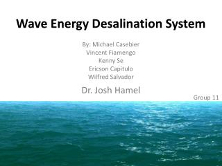 Wave Energy Desalination System