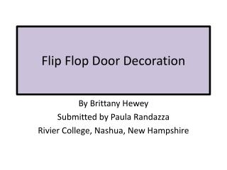 Flip Flop Door Decoration
