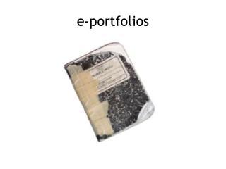 e -portfolios