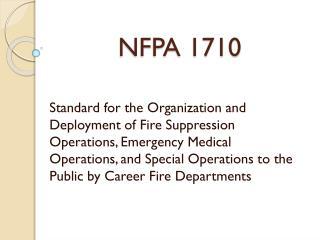 NFPA 1710