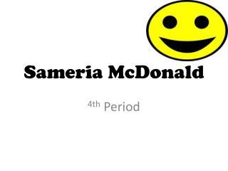 Sameria  McDonald