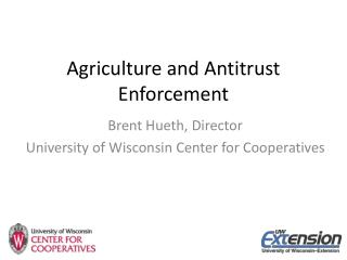Agriculture and Antitrust Enforcement