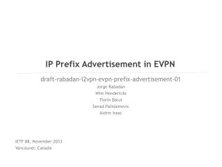 IP Prefix Advertisement in EVPN
