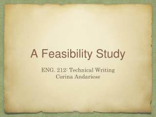 A Feasibility Study