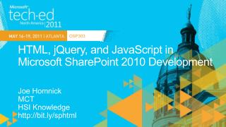 HTML,  jQuery , and JavaScript in Microsoft SharePoint 2010 Development