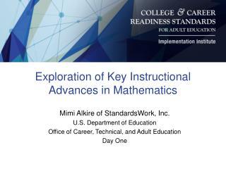 Exploration of Key Instructional Advances in Mathematics