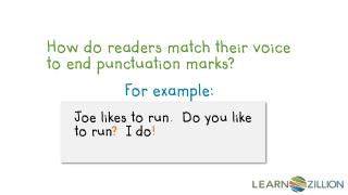How do readers match their voice to end punctuation marks?