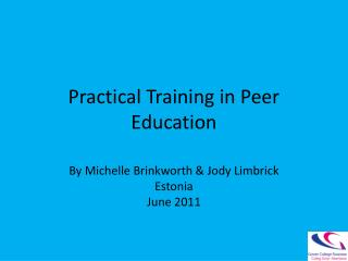 Practical Training in Peer Education
