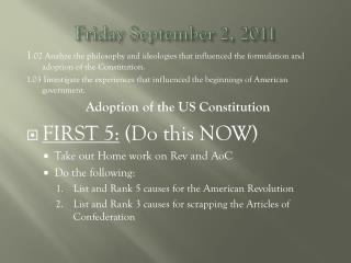 Friday  September 2, 2011